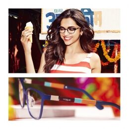 Stripes on stripes. Embrace the summer trend also with eyewear: the Colorbands Collection optical model worn by Deepika Padukone features temples with vibrant and dynamic colorful inserts. Perfect in the city and on vacation.