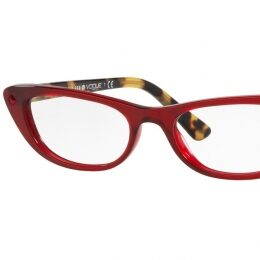VO5236B Pretty smart gets just a touch of bling! Available in a variety of colors, this petite cat-eye optical style in quality acetate goes from retro-chic to super trendy in a wink. Vamp up your look with transparent red fronts and tortoise temples, or give heritage colors something to talk about with sparkling Swarovski accents, not to mention essential black and a barely-there total transparent option, this Gigi Hadid for Vogue Eyewear signature style takes the ordinary out of optical eyewear with extra