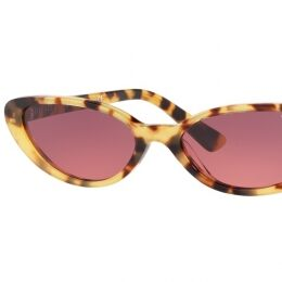 "VO5237S Sultry-sweet with a sense of sophistication, this petite cat-eye sun model revisits the world of Fifties-inspired elegance to create a personality packed new look with Gigi Hadid signature appeal. Available in polished vintage tones of tortoiseshell and dark Havana paired with both classic and new, ultra-feminine lens options, this retro-chic style in quality acetate goes with absolutely anything without ever being ordinary, while a total black frame is literally ""a little black dress"" for your eyes"