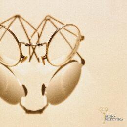 Occhiale pieghevole in metallo dorato anni 30