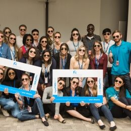 Students from 13 different optometry schools participated in the inaugural eyeFWD class.