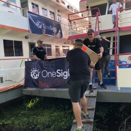 The first floating OneSight clinic in Amazon