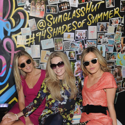 Freezing cold? Georgia May Jagger and the Richards sisters in Sunglass Hut sunglasses brought summer back in New York for one day
