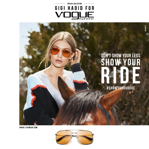 e1c1b8f392 GIGI HADID FOR VOGUE EYEWEAR  MORE THAN A SPECIAL COLLECTION