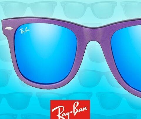 The iridescent colours of Ray-Ban Wayfarer