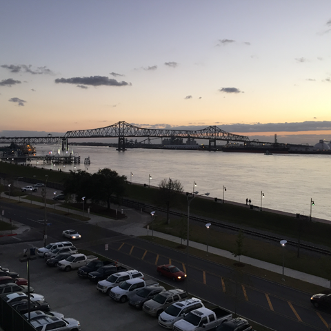 Baton Rouge, Louisiana, where bridges aren't just for cars and trucks
