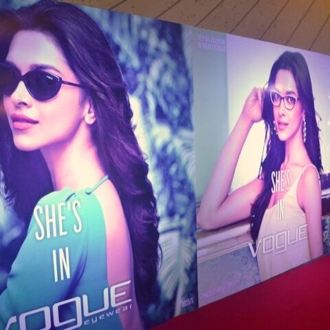 Vogue Eyewear launches its first communication campaign in India and the testimonial Deepika Padukone