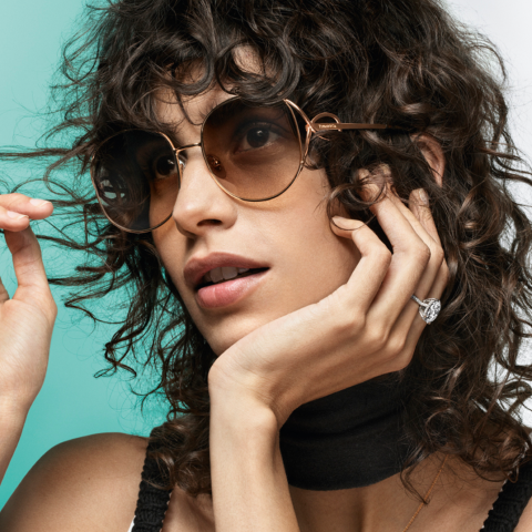 The new Tiffany & Co. eyewear collection inspired by Tiffany Infinity jewelry