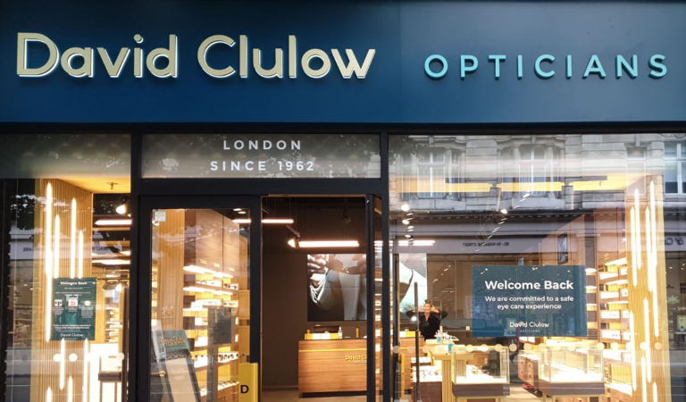 David Clulow: a donation to the British National Health System with each eyewear purchase