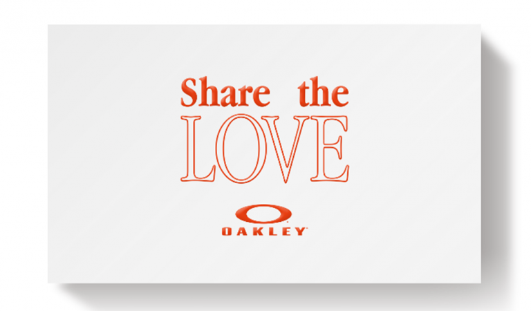OAKLEY 'Shares the Love'