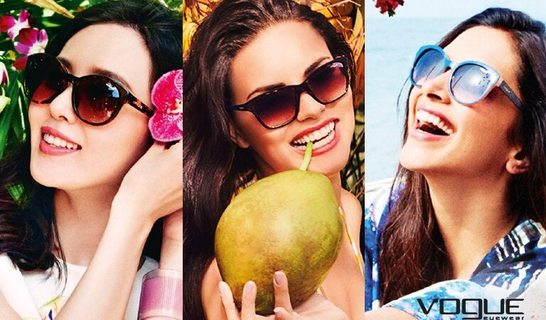 COLORBANDS AND CRYSTAL COLORS: summer trends by VOGUE EYEWEAR