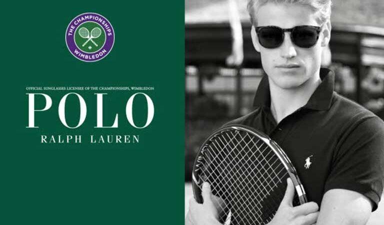 Il torneo di Wimbledon indossa occhiali Polo Ralph Lauren
