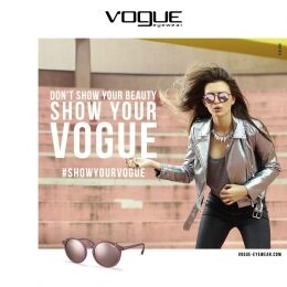 VO5161S mirrored sunglasses in opal pink nylon fiber with fine metal upper bridge. For women with trendy, urban style.